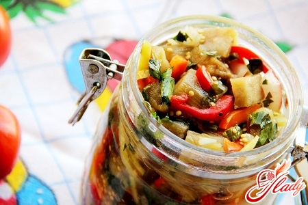 pickled platter with aubergines