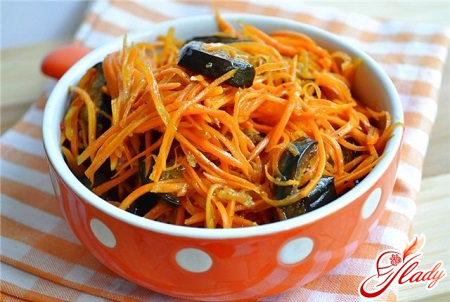 delicious marinated aubergines with carrots
