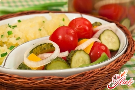 recipe for pickled cucumbers and tomatoes