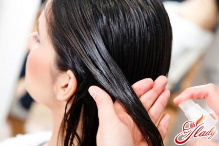 application of oil on hair