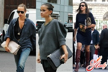 with what kind of clothes they wear a golden clutch