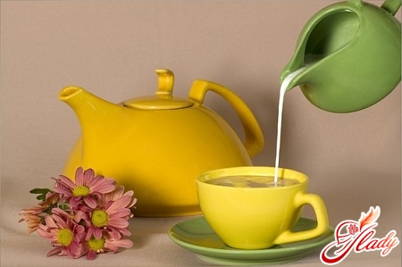 green tea with slimming milk