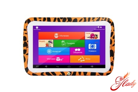 Games and training on a children's tablet