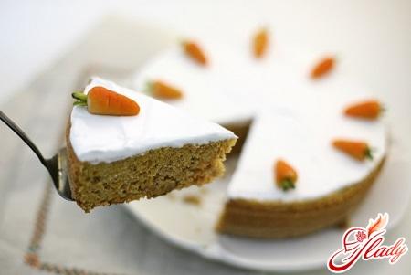 морквяний пиріг рецепт