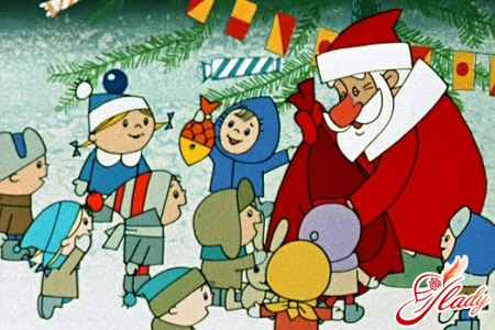 Domestic New Year's cartoons