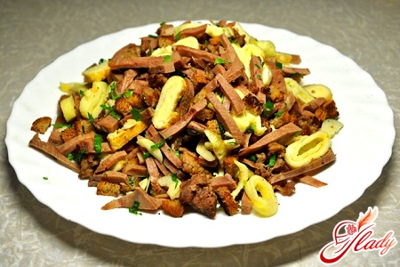 salads with meat