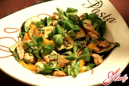 салати з м'ясом рецепти