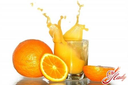 drink of oranges