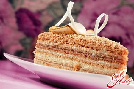 cake napoleon with condensed milk
