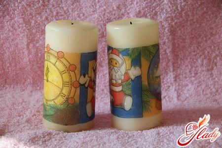 красиві свічки своїми руками до Нового року