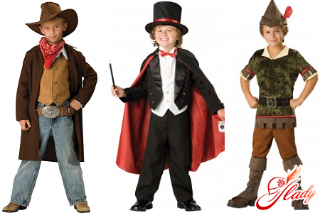New Year's costume for a boy with his own hands