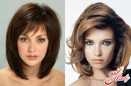 voluminous styling of medium hair