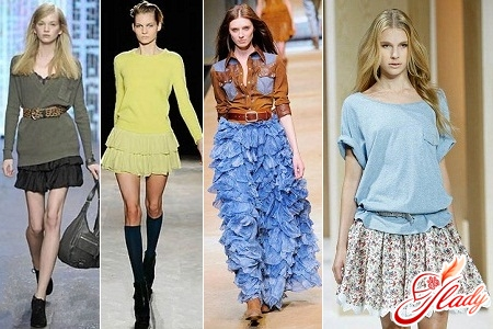 photo skirts with frills