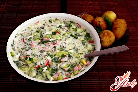 okroshka recipe for yogurt