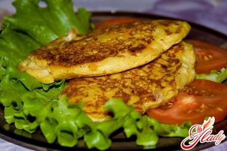 delicious fritters of potatoes and zucchini