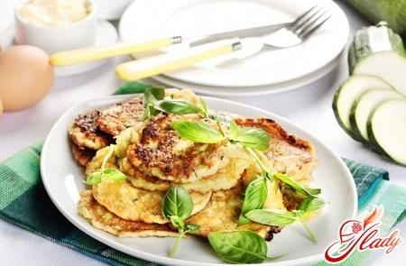 different recipes of squash pancakes