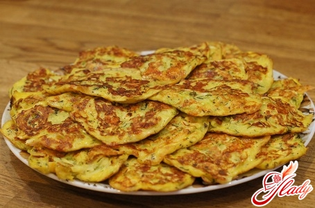 pancakes with cottage cheese and zucchini