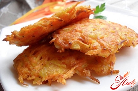 zucchini pancakes with apples