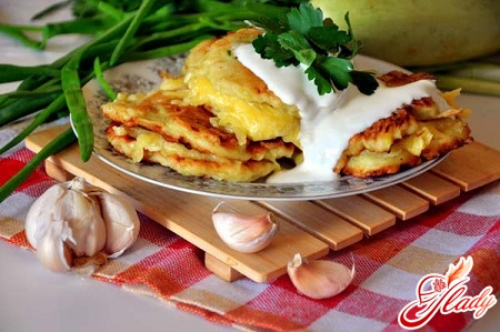 delicious pancakes from courgettes