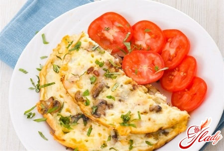 how to cook an omelette with mushrooms