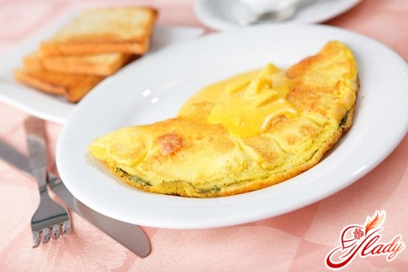 omelette with flour