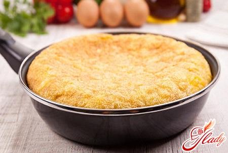 Omelette recipe in the oven