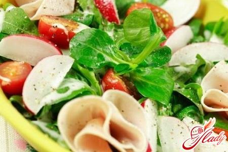 vegetable salad layers