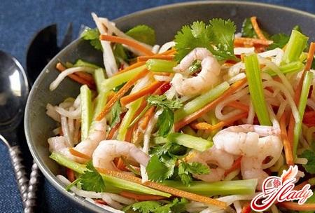 овочевий салат з морепродуктами