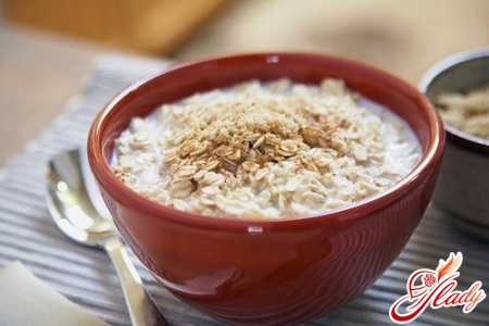 delicious oatmeal with honey