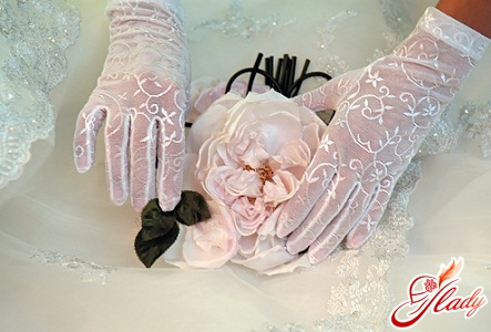 wedding gloves photo