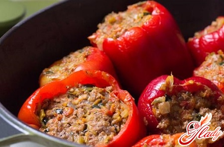 stuffed pepper rice with minced meat