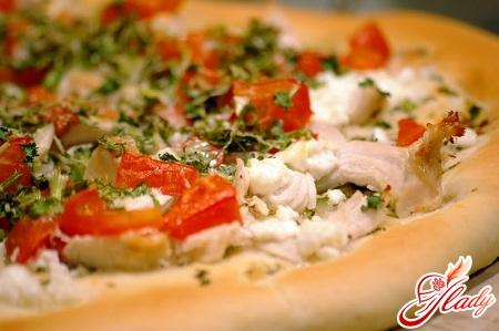 піца рецепт з куркою