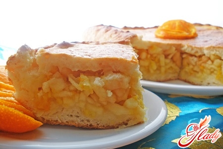 pie with oranges and apples