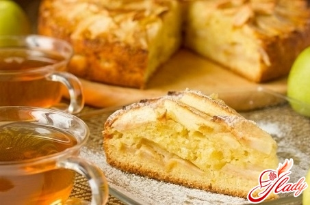 delicious pie with oranges and apples