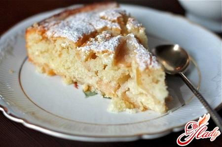 apple pie with semolina