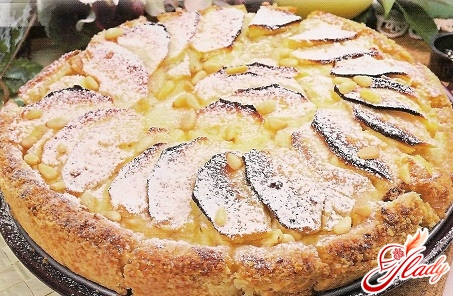 pie on sour cream with apples