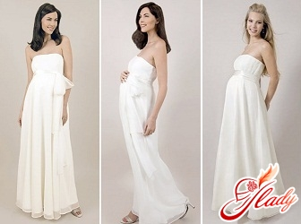 wedding dresses for pregnant women in Greek style