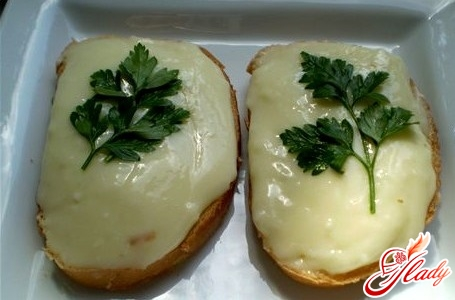 melted cheese with greens