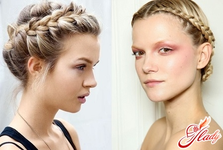 Fashionable hairstyles with braiding