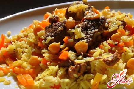 pilaf of pork with crumbly rice