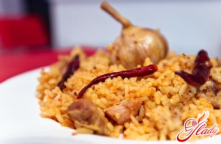 delicious pilaf with pork in the multivark