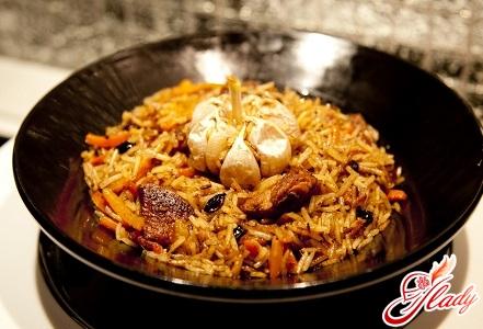 fast recipe Uzbek plov with pork