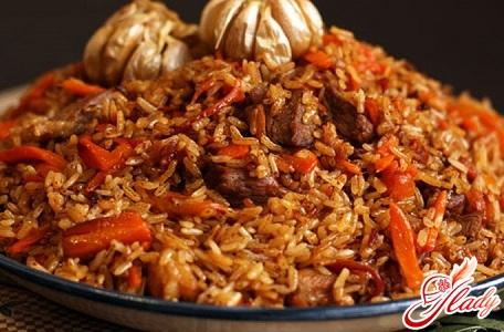 recipe of Uzbek pilaf