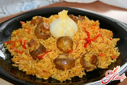 how to cook a delicious pilaf with mushrooms