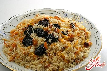 plov's recipe with raisins