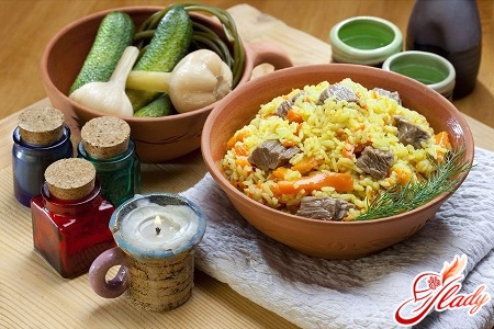 delicious pilaf with chicken