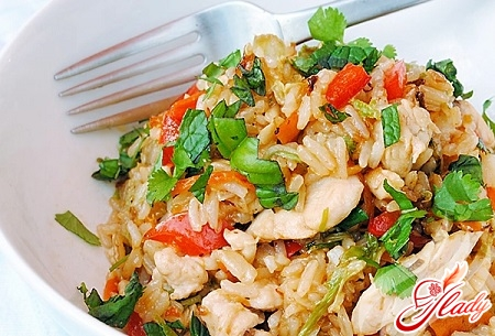 dietary pilaf with chicken