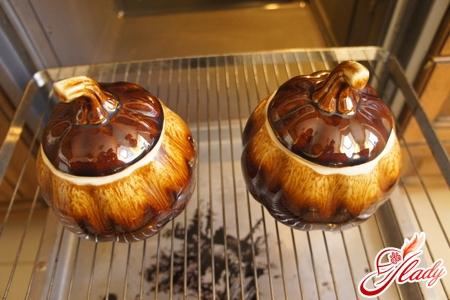 pilaf in pots