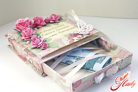 a cash gift for a wedding