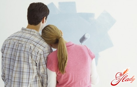 how to paint the walls in the apartment